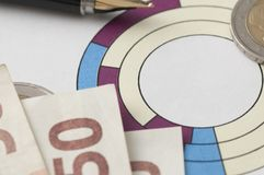 Inversión del mercado de acción Imágenes de archivo libres de regalías