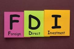Inversión directa extranjera FDI fotografía de archivo libre de regalías