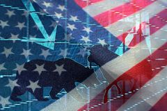 Inversión en los mercados de Estados Unidos fotos de archivo libres de regalías