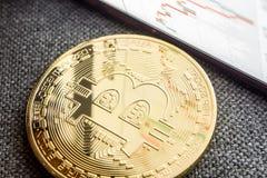 Inversión en monedas crypto Imagen de archivo