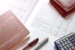 Inversión financiera del mercado de acción del presupuesto Foto de archivo libre de regalías