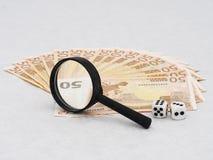 Inversión, jugando en el futuro del euro, concepto Fotografía de archivo libre de regalías