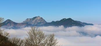 Inversion au-dessus de l'Autriche Photographie stock