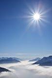 Inversion dans les montagnes Photographie stock