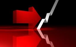 Inversion de crise financière Images libres de droits
