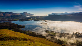 Inversion de nuage de Derwentwater Photo libre de droits