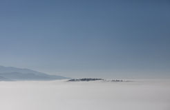 Inversion fog in black forest Stock Photos