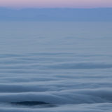 Inversion fog in black forest Stock Photography