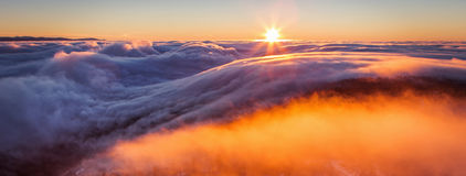 Inversion In The Valley At Sunset Stock Photos
