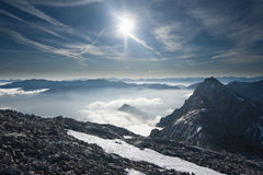 Inversion in the mountains Royalty Free Stock Photos