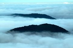 Inversion of the mountains Royalty Free Stock Image