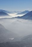 Inversion in the mountains Stock Photos