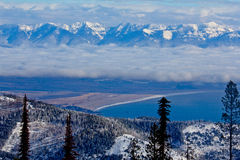 An Inversion - North Shore of Flathead Lake Royalty Free Stock Image