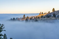 Inversion over Boise Idaho in the hills Royalty Free Stock Image