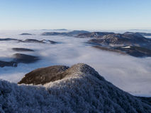 inversion over the country royalty free stock photos