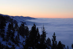 Inversion over Treasure Valley. Boise, idaho Stock Photos