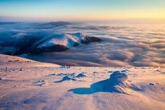 Inversione di alba di Mala Fatra Fotografie Stock