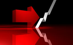 Inversione di crisi finanziaria Immagini Stock Libere da Diritti