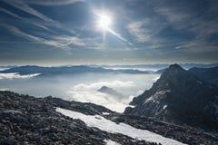 Inversione nelle montagne Fotografie Stock Libere da Diritti