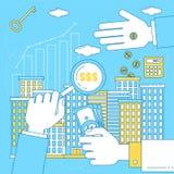Inversiones de la propiedad, concepto del negocio ilustración del vector
