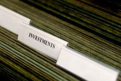 Inversiones que clasifían tabulaciones Fotos de archivo