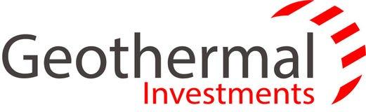 Inversiones y plantilla geotérmicas del logotipo Imagen de archivo libre de regalías