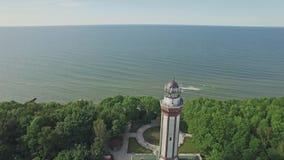 Inverso baltico 4k aereo della lanterna video d archivio