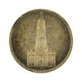 5 inverso della moneta 1934 di reichsmark del tedesco immagini stock