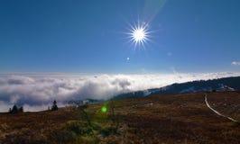Inverso sopra Kosice nell'inverno Immagine Stock