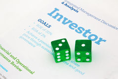 Inversor aventurado Foto de archivo libre de regalías