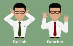 Inversor iconBullish y ceñudo libre illustration