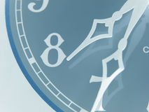 Inverted antique clock Stock Image