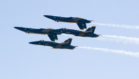 Inverted Blue Angels royalty free stock image