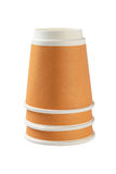 Inverted Coffee Cups Stock Photography
