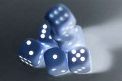 Inverted dices. With shadows Royalty Free Stock Images