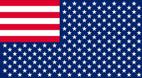 Inverted Flag of the United States. Royalty Free Stock Photos