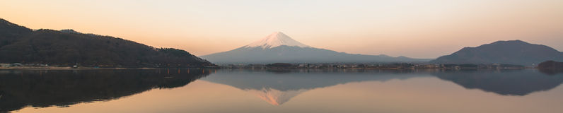 Inverted image of Mt  Fuji, View from lake Kawaguchi Stock Images