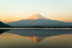 Inverted image of Mt  Fuji, View from lake Kawaguchi Stock Photography