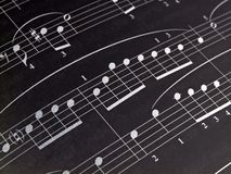 Inverted Notes. Public Domain Music Macro Inverted Black and White Stock Photography