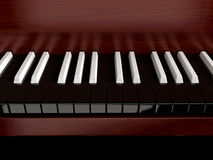 Inverted piano. Black piano with inverted keys royalty free stock photography