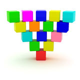 Inverted pyramid Stock Images
