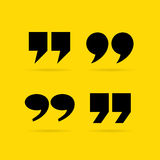 Inverted quote commas. Vector shapes vector illustration