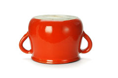 Inverted red clay pot Stock Photography
