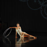 Inverted reflection -Dance musical:Red line. In May 22nd, the French original dance musical red line at the Jiangxi Art Center held. Chinese youth dance actor Stock Image