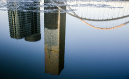 Inverted reflection in water Royalty Free Stock Image