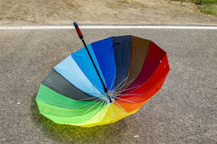 Inverted reversed umbrella Royalty Free Stock Images