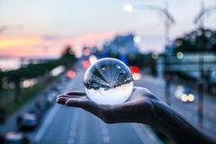 Inverted road in the ball Stock Photography