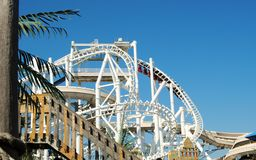 Inverted Rollarcaoster. An Inverted roller coaster at an amusement park Stock Photo