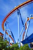 Inverted Roller Coaster tracks Stock Image