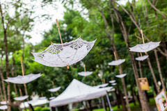 Inverted  umbrella decoration Stock Image